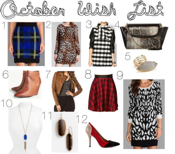 October Wish List