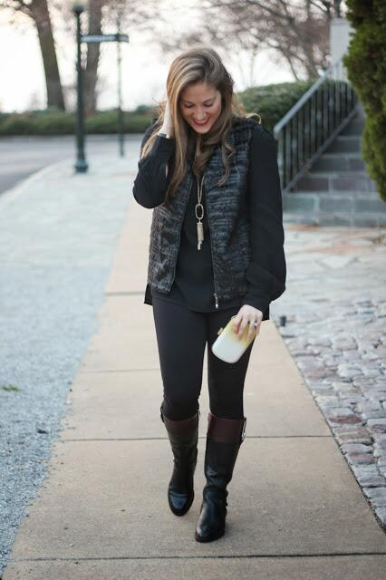 Payless Riding Boots styled by top Memphis fashion blogger, Walking in Memphis in High Heels.
