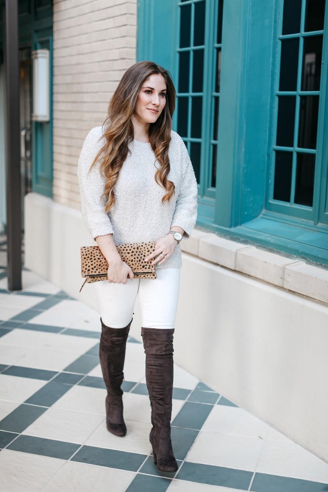 3 ways to wear winter white jeans