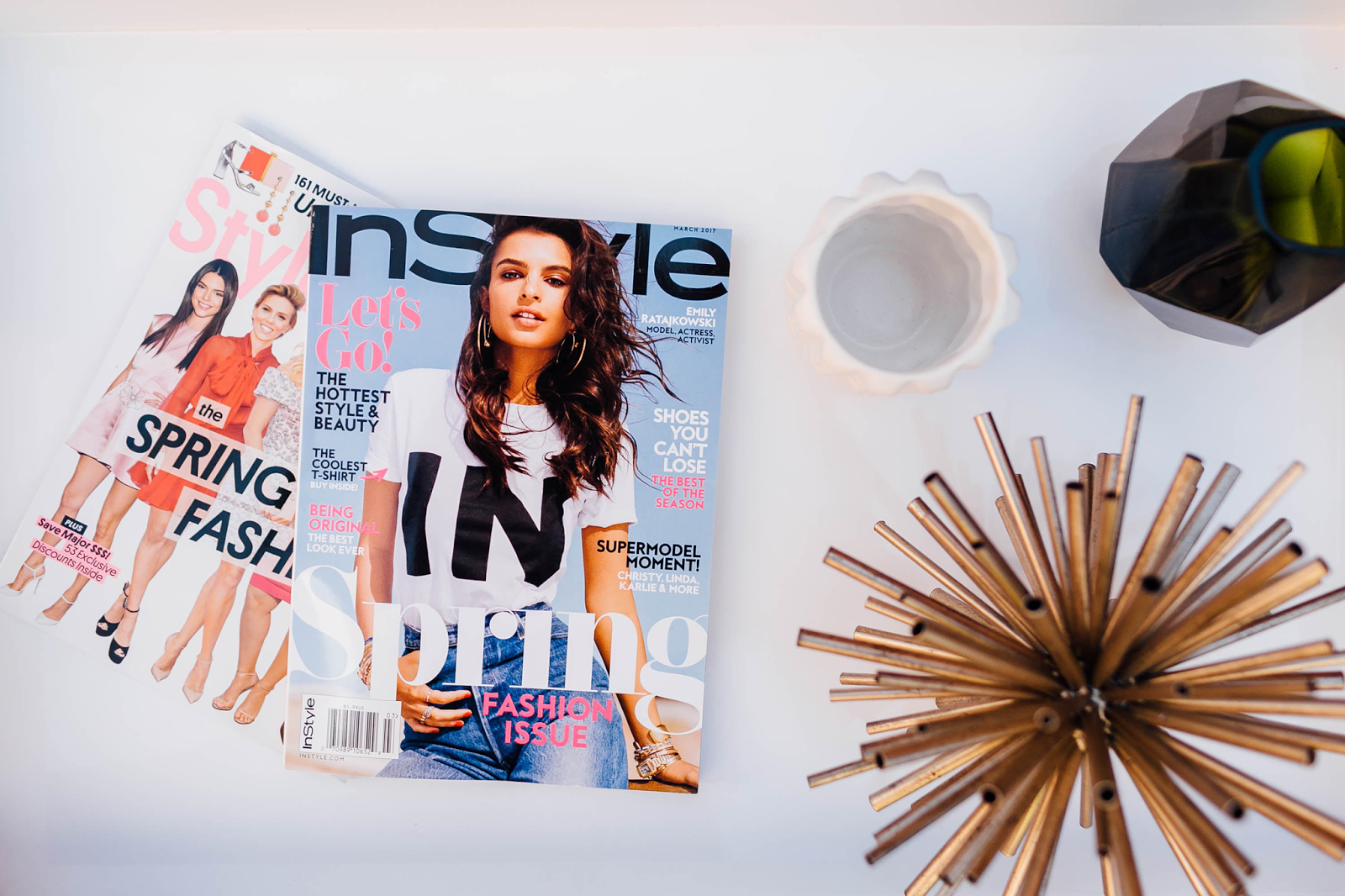 Ways to make time for yourself: read a magazine or two