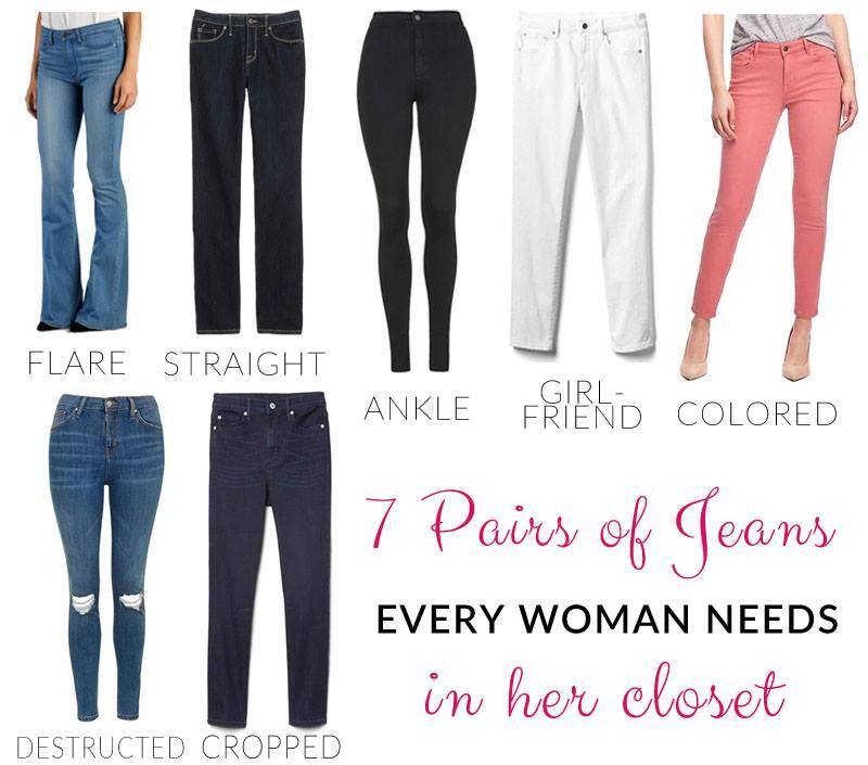 7 pairs of jeans you need in your closet