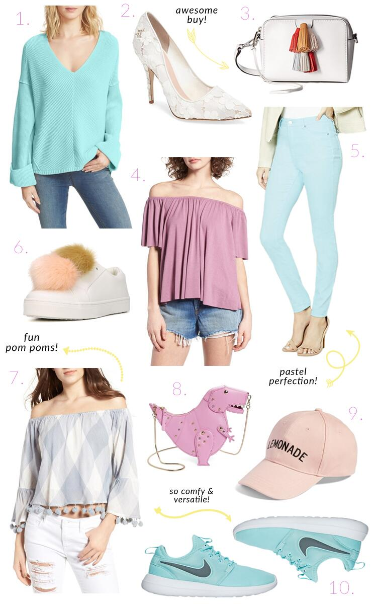 Pastel Picks - My Spring Colors Wish List