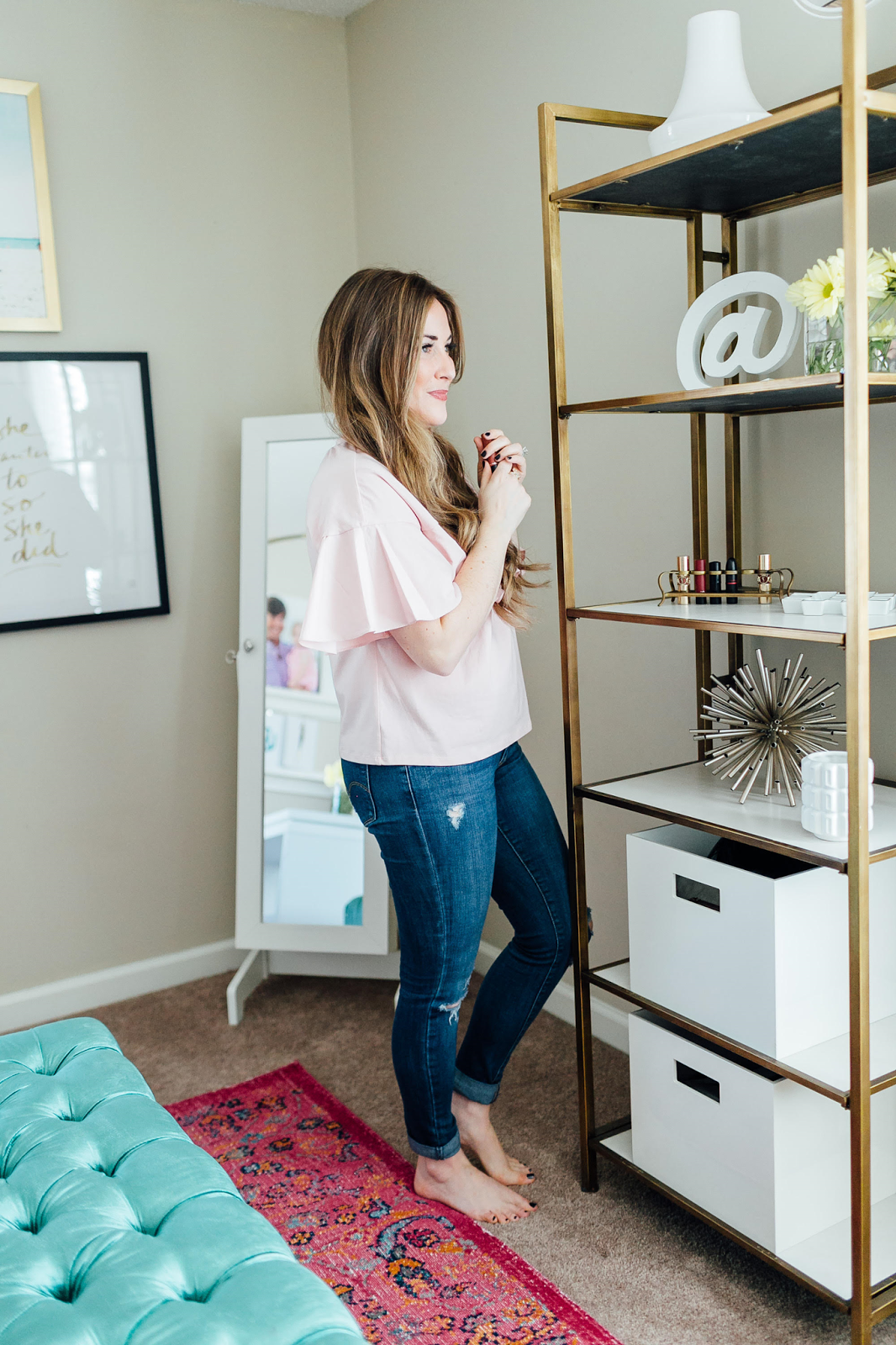 The BIg Reveal: Dressing Room / Home Office Ideas by lifestyle blogger Laura from Walking in Memphis in High Heels