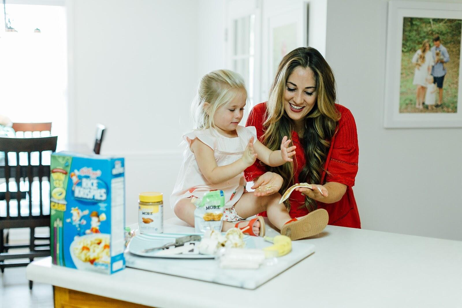 After School Snacks for Your Kids - Peanut Butter Banana Rollups by Memphis mom blogger Walking in Memphis in High Heels