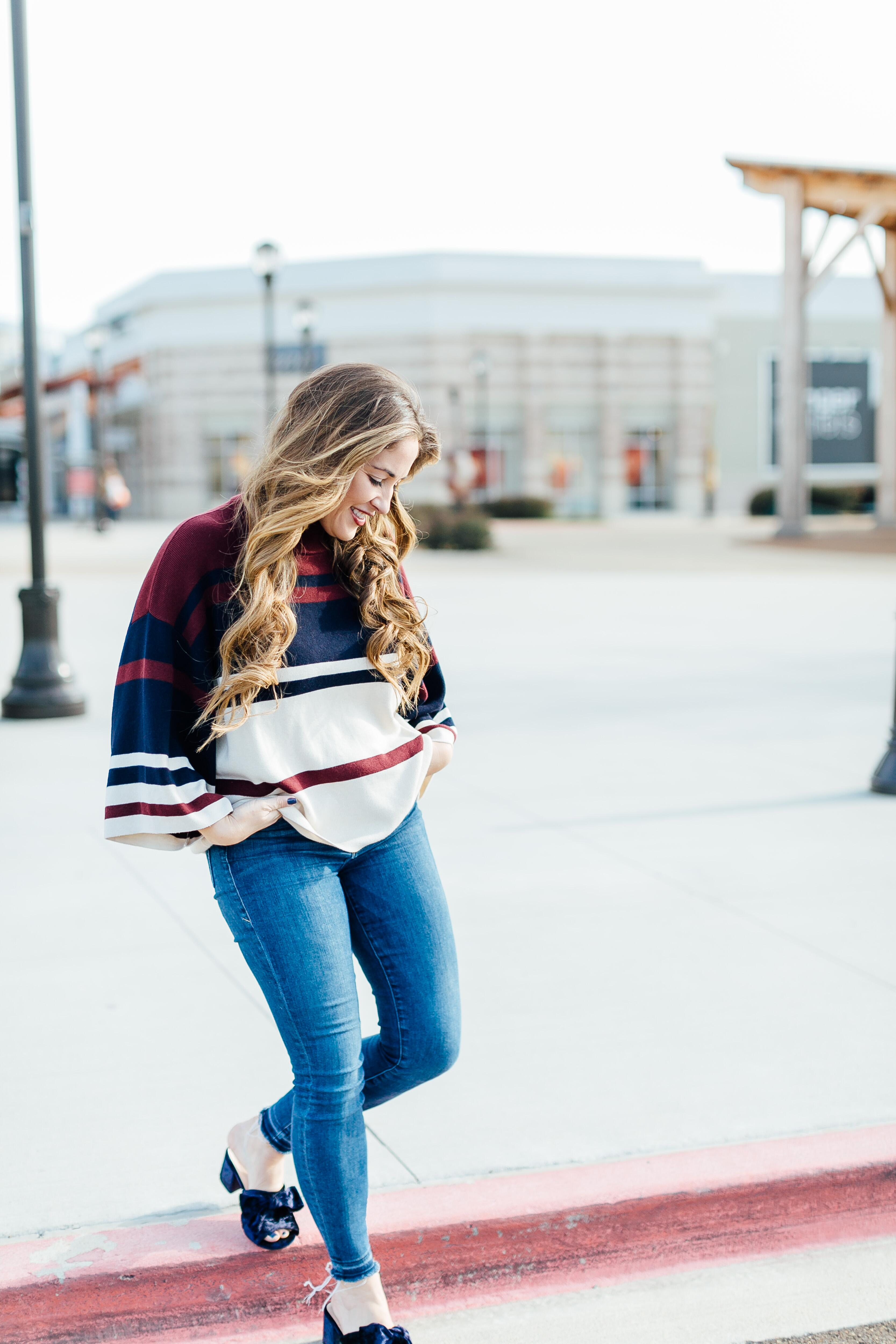 LOFT Burgundy top by East Memphis fashion blogger Walking in Memphis in High Heels
