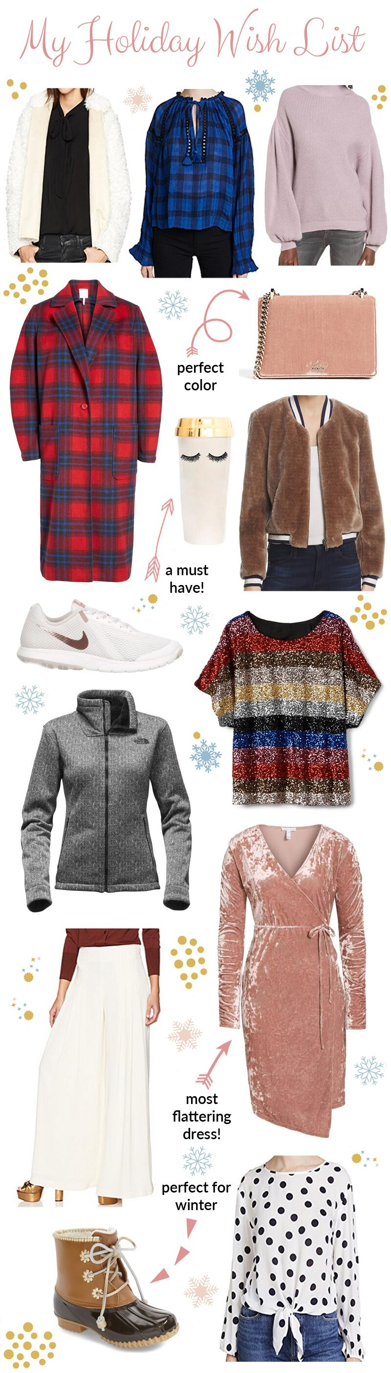 My Holiday Wish List by East Memphis style blogger Walking in Memphis in High Heels
