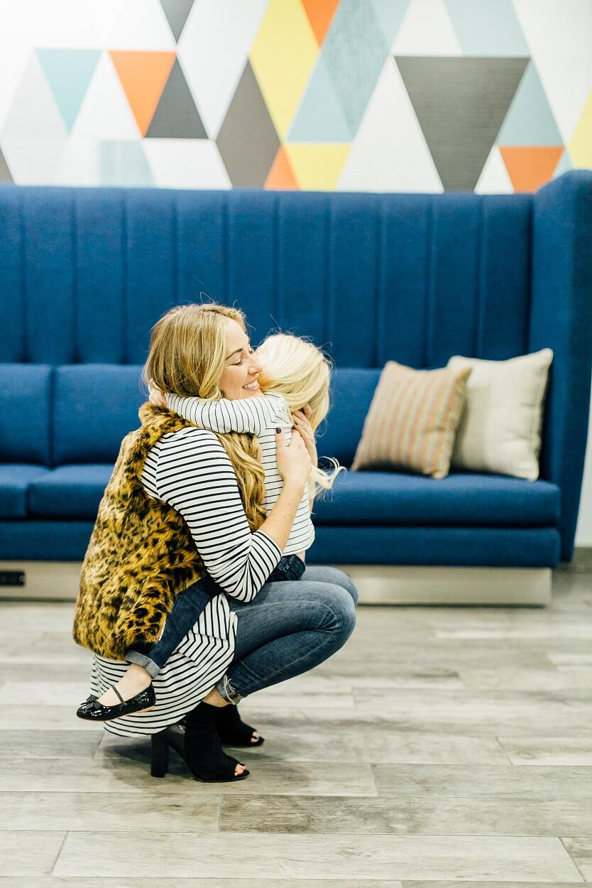 Mama & Mini: How to Wear a Striped Tee by East Memphis fashion blogger Walking in Memphis in High Heels