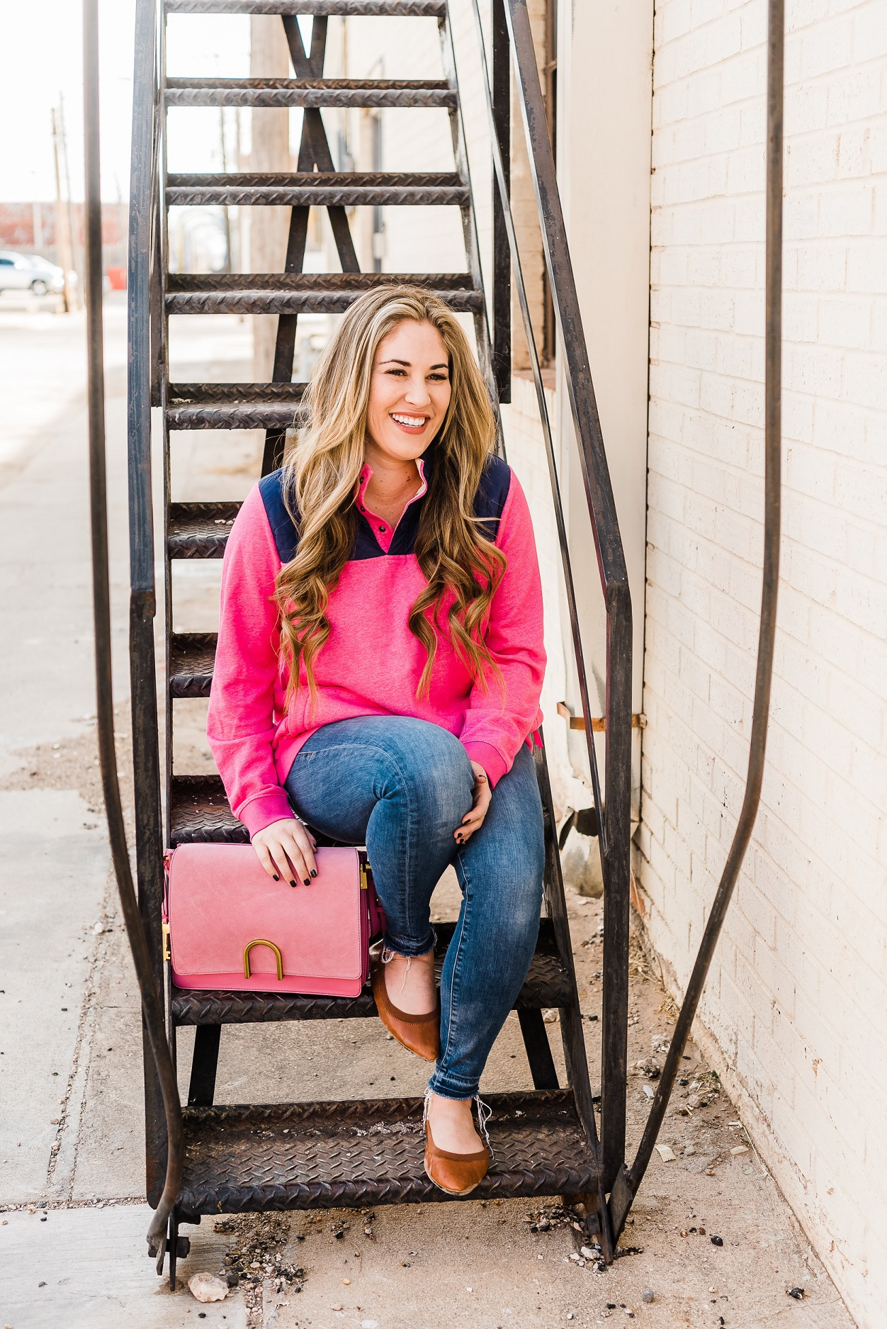 Nordstrom Pink Pullover outfit from East Memphis fashion blogger Walking in Memphis in High Heels
