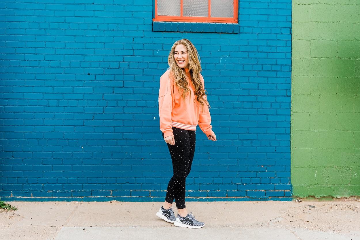 Adidas Leggings by popular East Memphis fashion blogger Walking in Memphis in High Heels