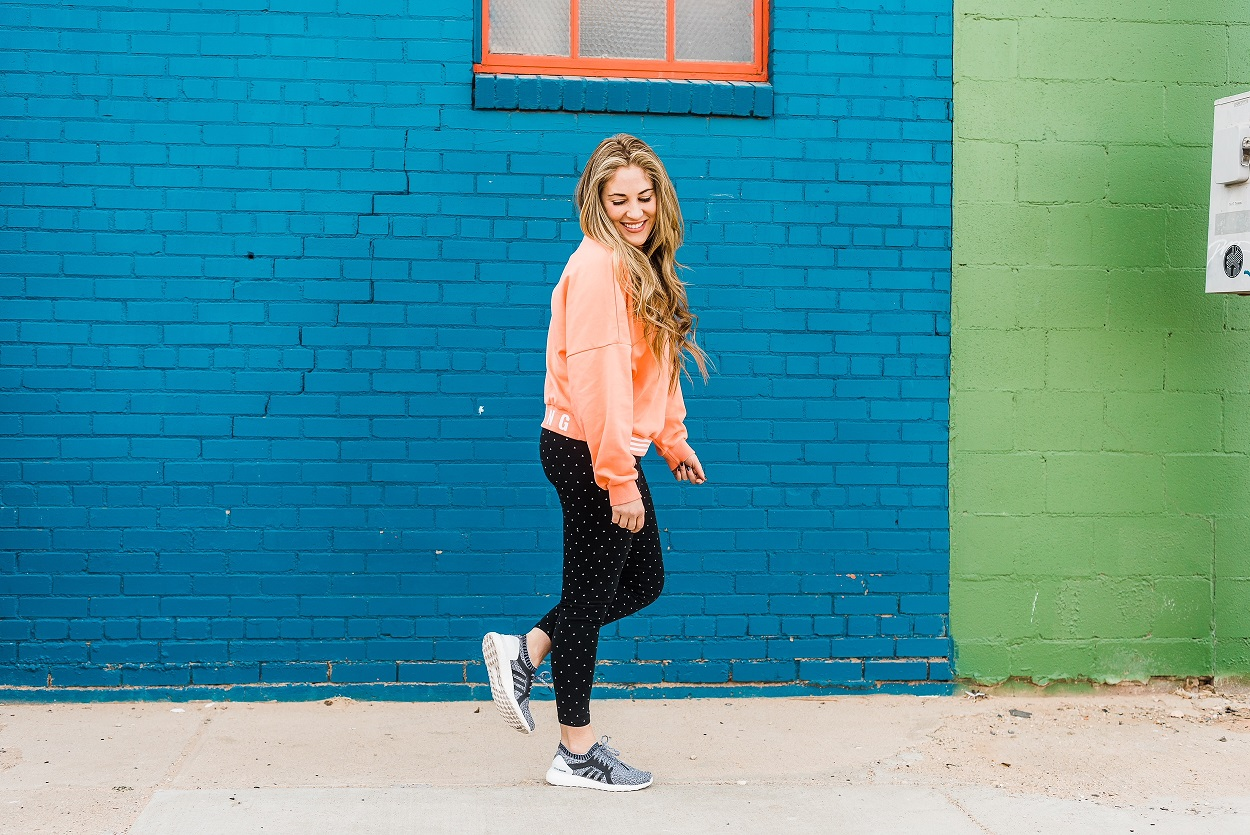 Adidas Leggings by popular East Memphis fashion blogger Walking in Memphis in High Heels