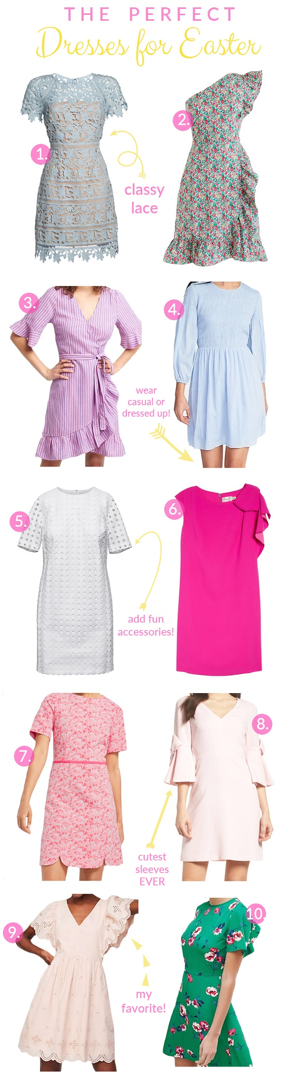 The Perfect Dresses for Easter by popular fashion blogger Walking in Memphis in High Heels