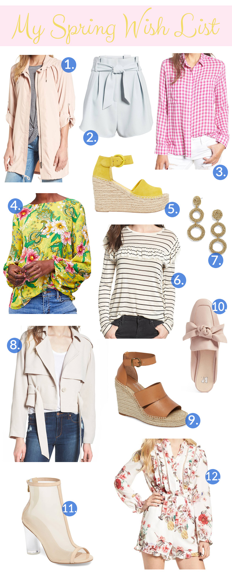 Spring Fashion Wish List by popular East Memphis fashion blogger Walking in Memphis in High Heels