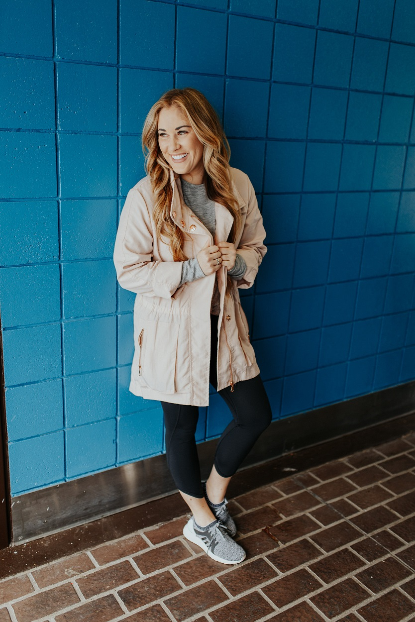 Athleisure outfit styled by popular fashion blogger Walking in Memphis in High Heels