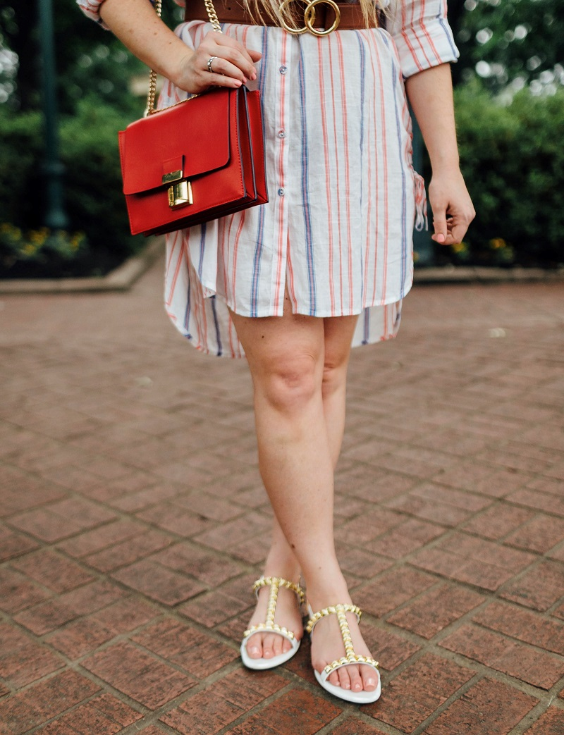 The Perfect Striped Shirtdress for Summer featured by popular fashion blogger, Walking in Memphis in High Heels