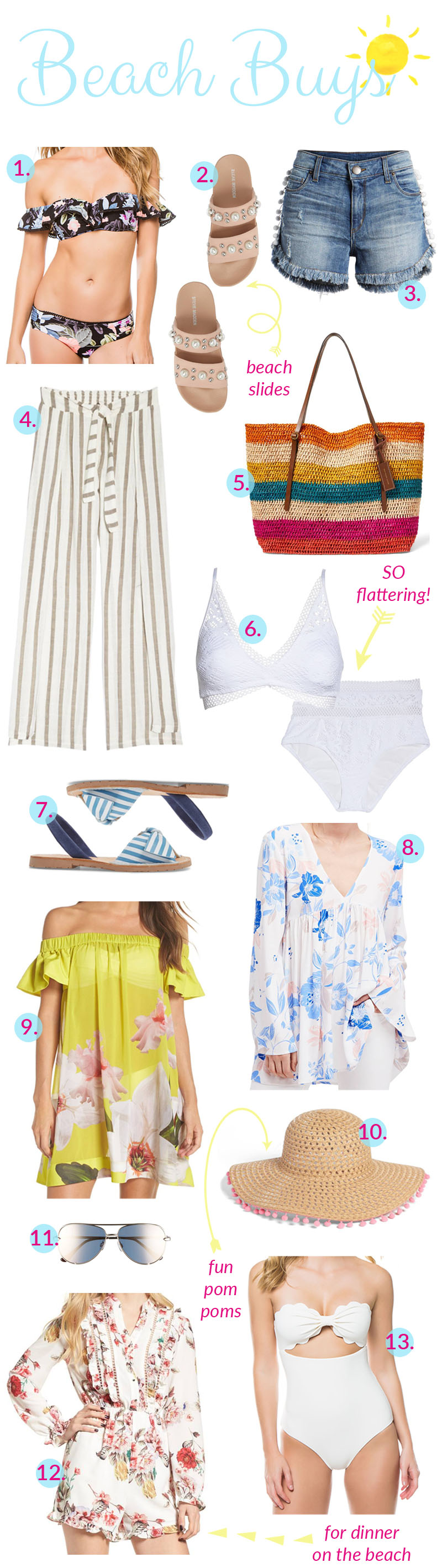 Beachwear Buys featured by popular fashion blogger, Walking in Memphis in High Heels