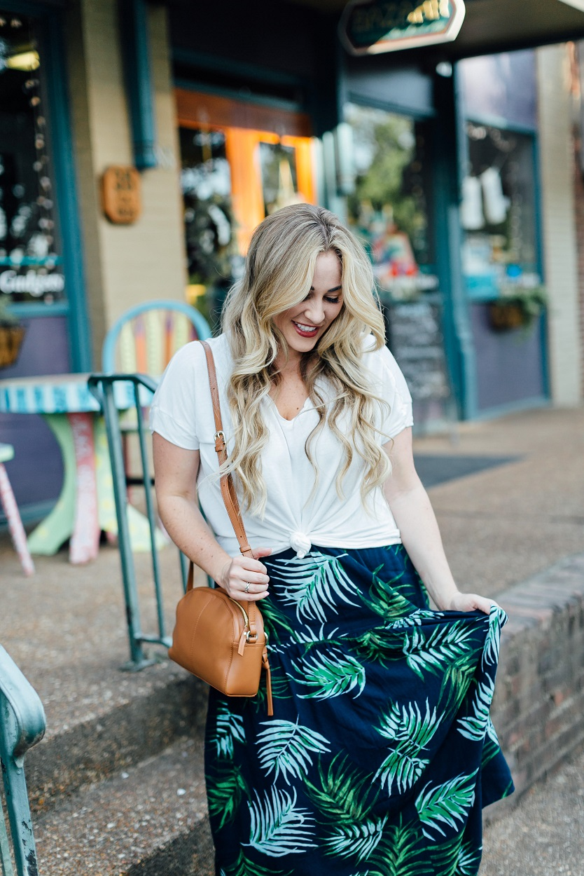 How to Dress up a Basic White Tee featured by popular style blogger, Walking in Memphis in High Heels