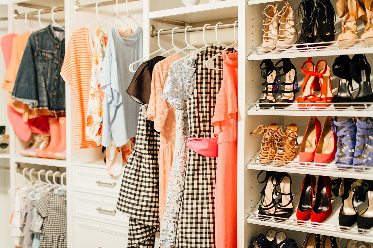 Dressing Room Reveal with ClosetMaid featured by popular fashion blogger, Walking in Memphis in High Heels