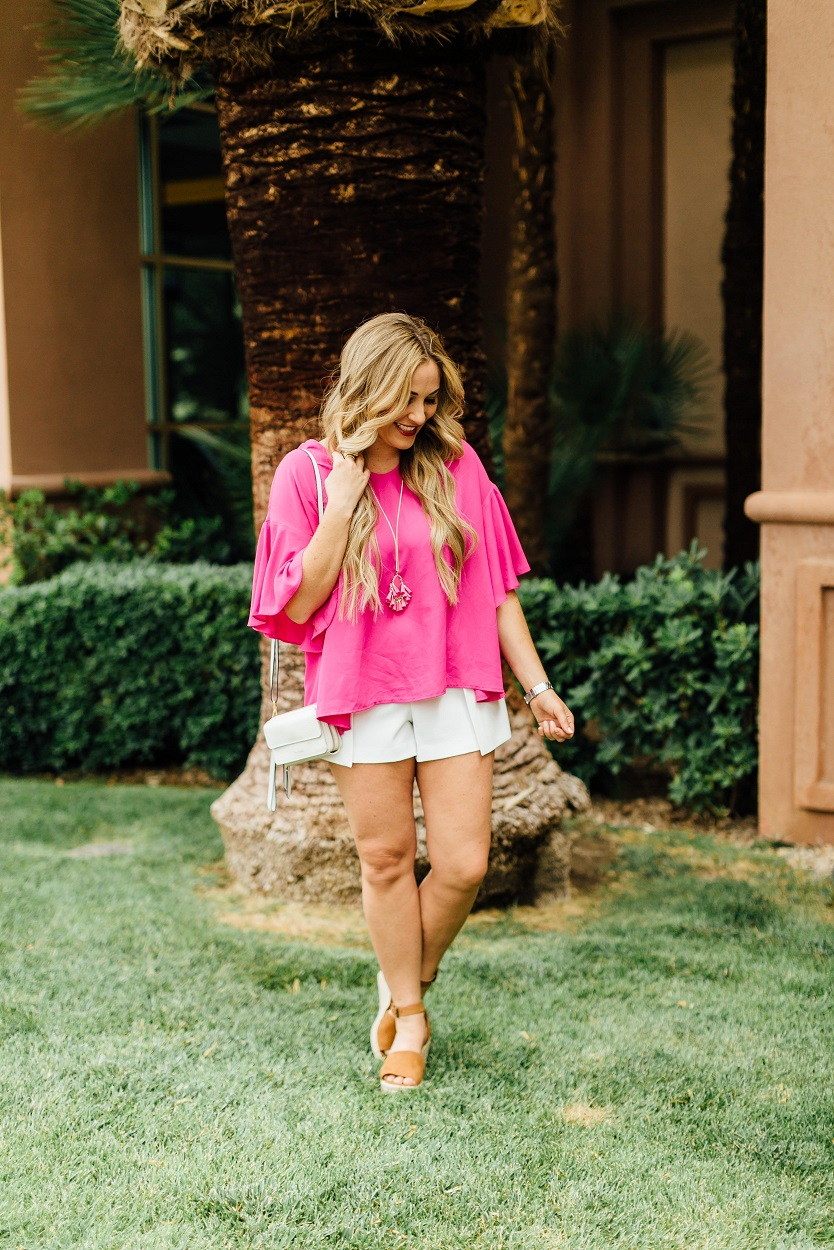 Bright Colors Outfit featured by popular fashion blogger, Walking in Memphis in High Heels