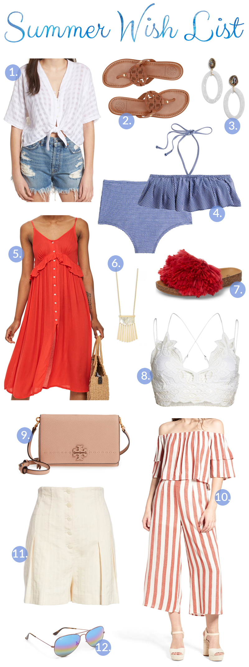 My Summer Fashion Wish List, featured by popular fashion blogger, Walking in Memphis in High Heels