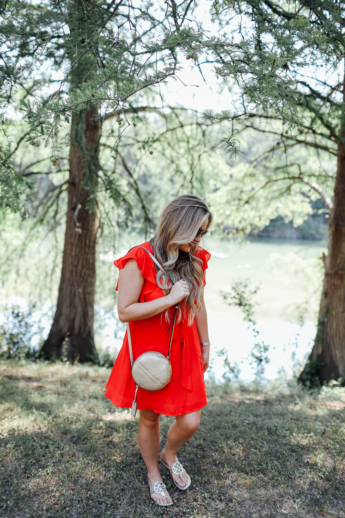 Cute summer dresses featured by popular fashion blogger, Walking in Memphis in High Heels: Socialite red ruffle sleeve dress