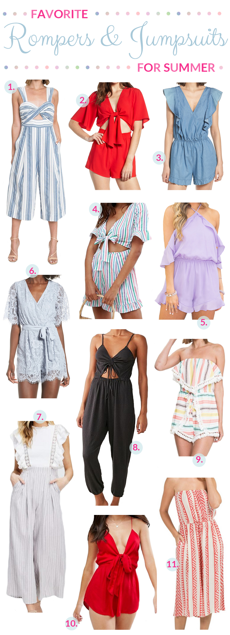 My Favorite Summer Rompers & Jumpsuits featured by popular fashion blogger Walking in Memphis in High Heels