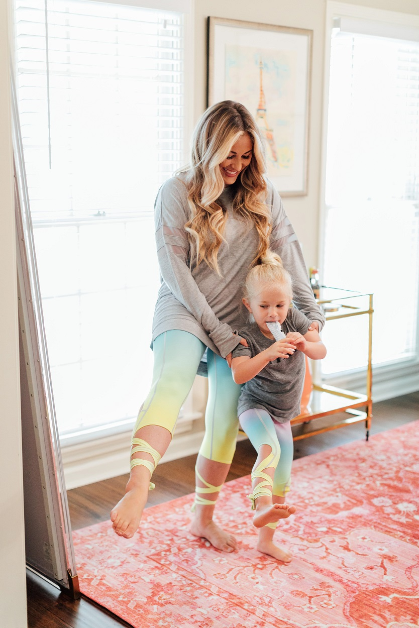 Flexi Lexi rainbow leggings featured by popular fashion blogger, Walking in Memphis in High Heels