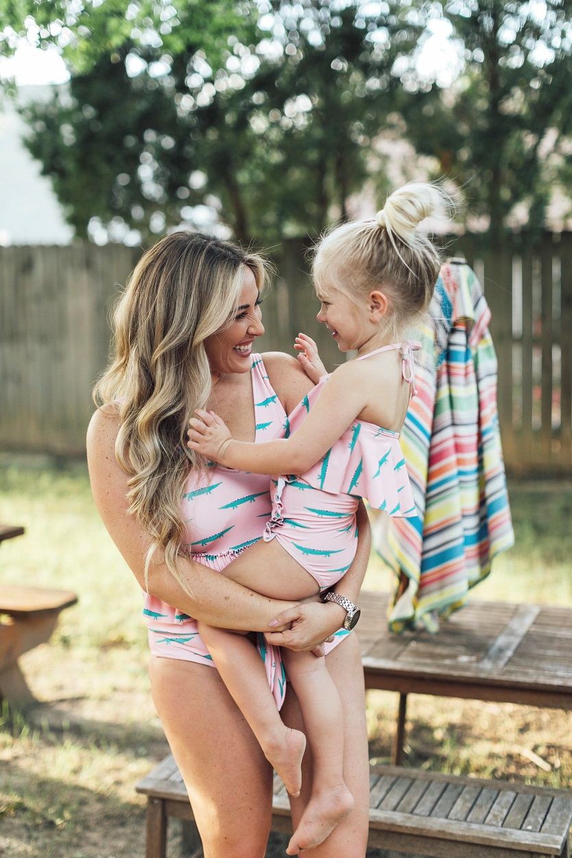 Mommy and Me Kortni Jeane Swimsuit featured by popular fashion blogger, Walking in Memphis in High Heels