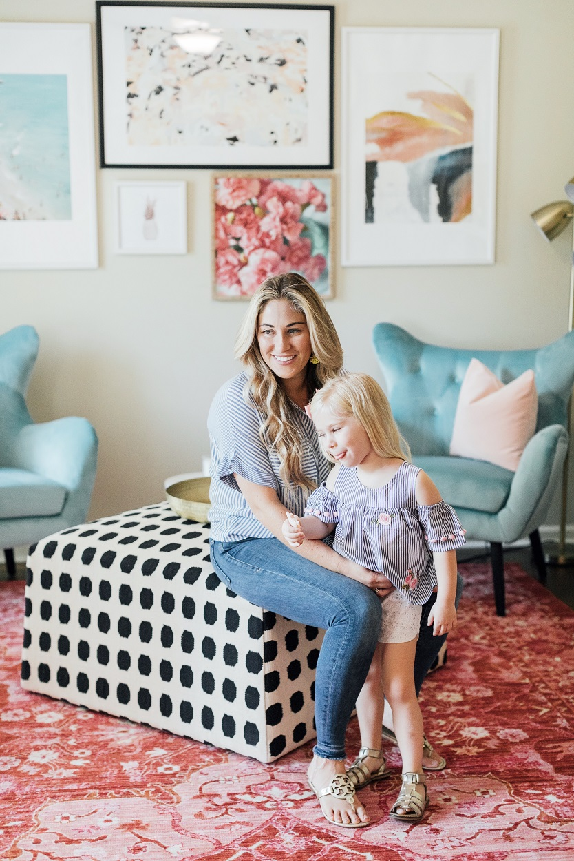 Gordmans toddler cold shoulder striped featured by popular fashion blogger, Walking in Memphis in High Heels