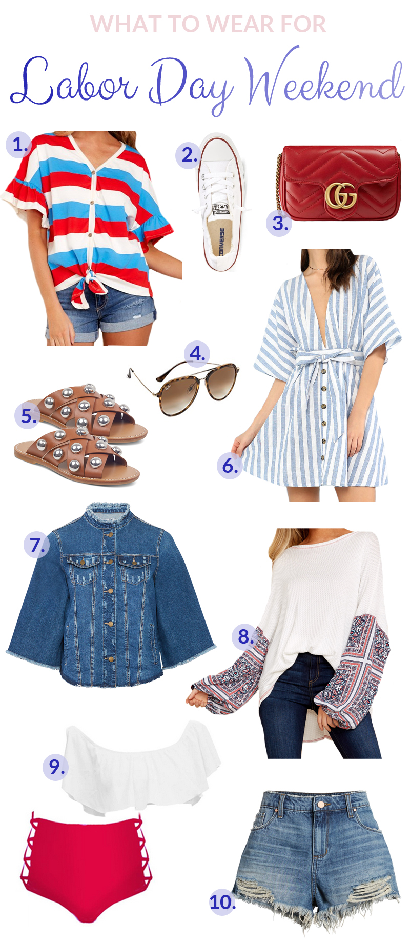 Cute Labor Day Outfits You Should Wear featured by popular fashion blogger, Walking in Memphis in High Heels