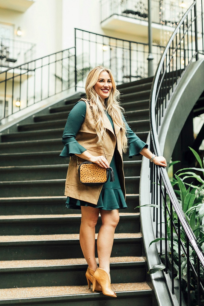 Vince Camuto fall booties styled by popular fashion blogger, Walking in Memphis in High Heels