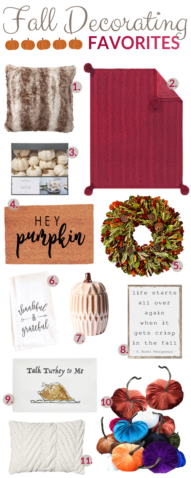 Favorite Home Fall Decor