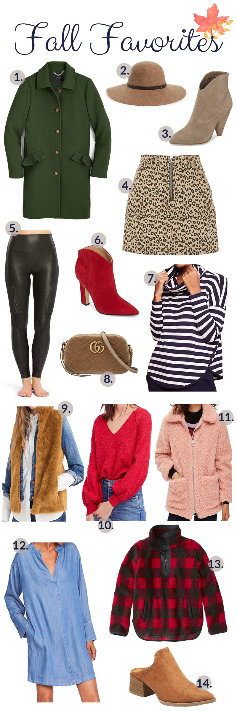 Fall Favorites featured by popular fashion blogger, Walking in Memphis in High Heels