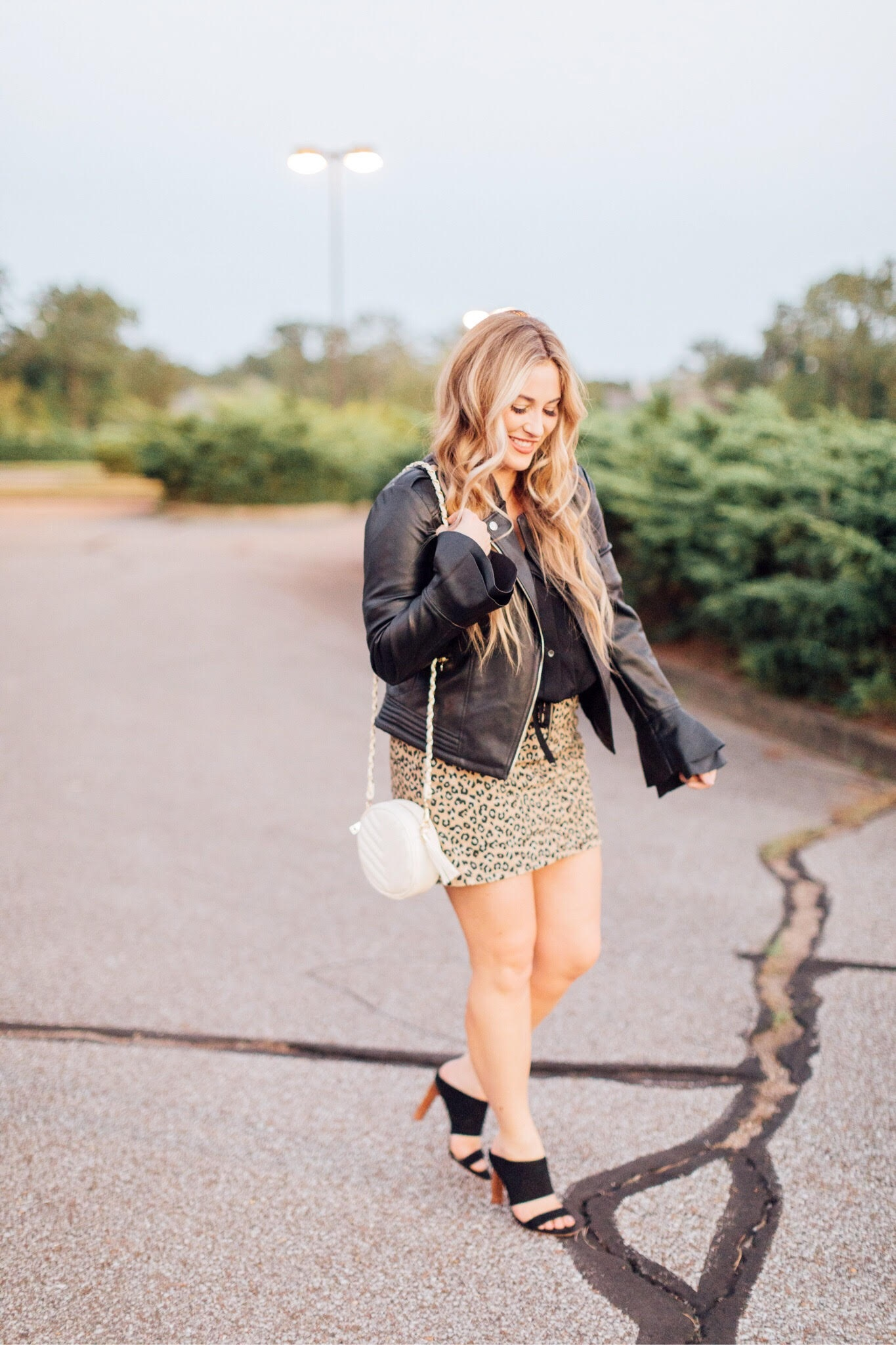 Fall layers with cheetah skirt styled by top fashion blog, Walking in Memphis in High Heels