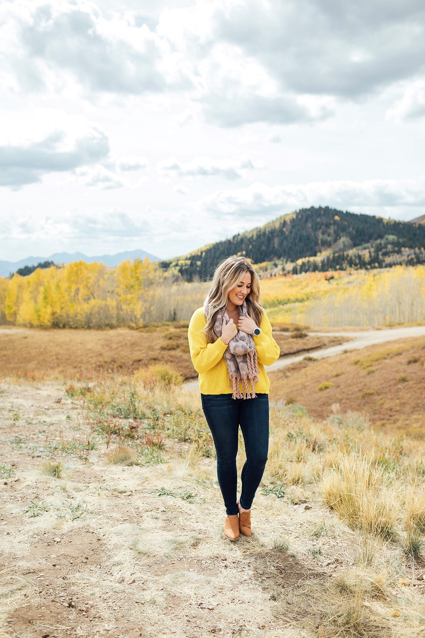 Nordstrom cropped yellow sweater featured by top fashion blog, Walking in Memphis in High Heels