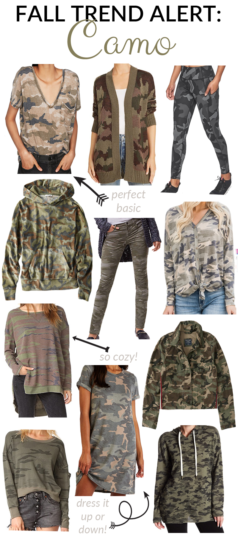 11 Camo Fashion Must-Haves featured by top fashion blog, Walking in Memphis in High Heels