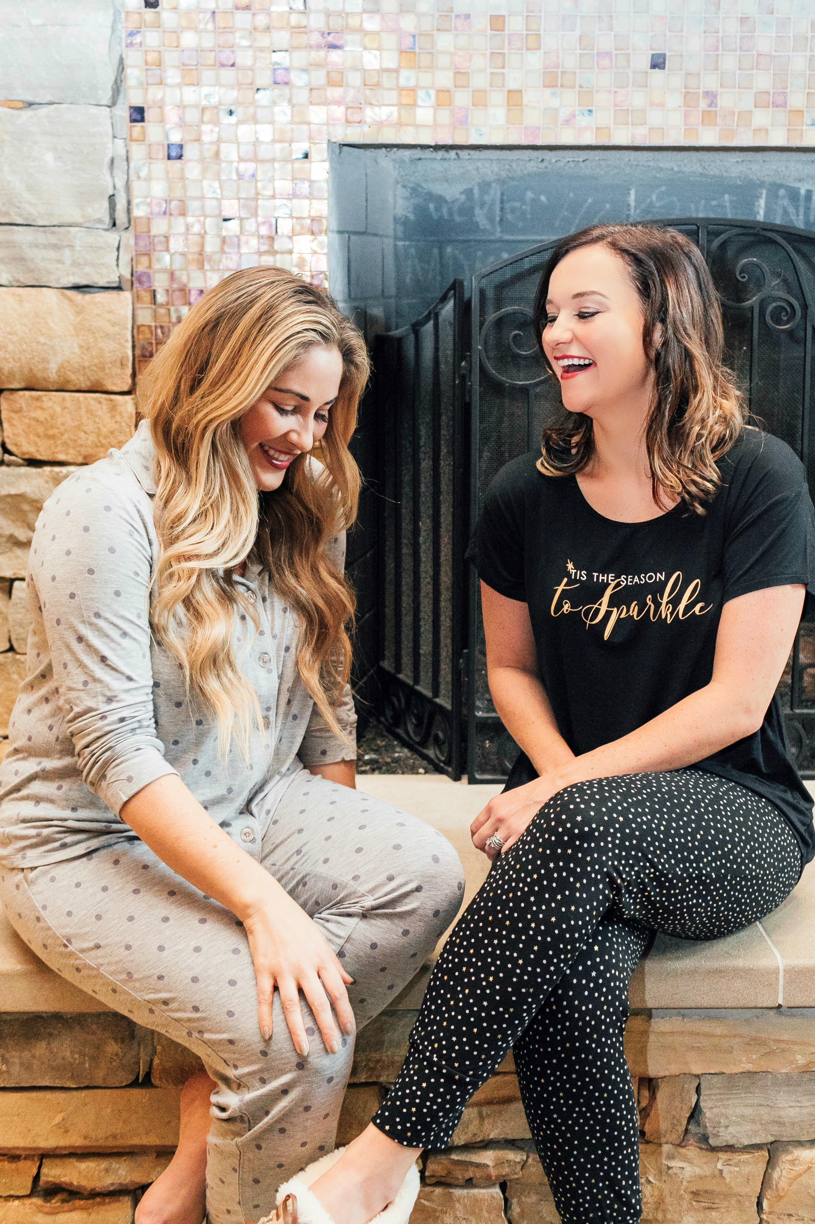 The best gifts for her under $100: Sonoma pajama featured by top fashion blog, Walking in Memphis in High Heels pictured here with Heather of My Life Well Loved