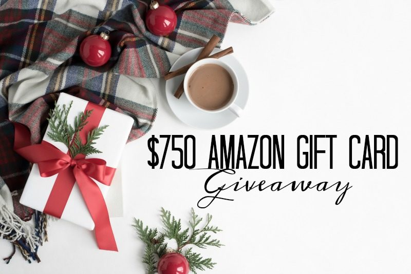 $750 Amazon Gift Card Giveaway!!