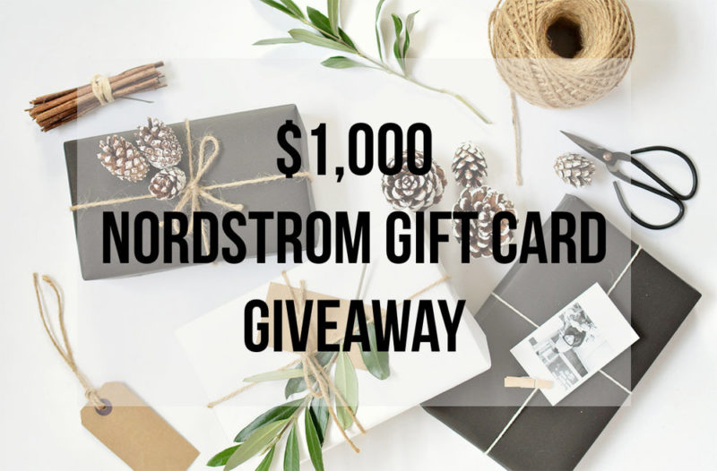 $1,000 Nordstrom Gift Card Giveaway!!