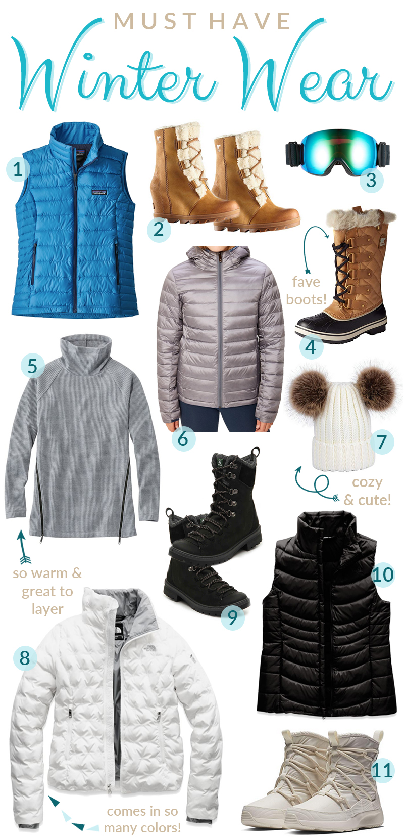 Winter Wardrobe Essentials featured by top US fashion blog, Walking in Memphis in High Heels