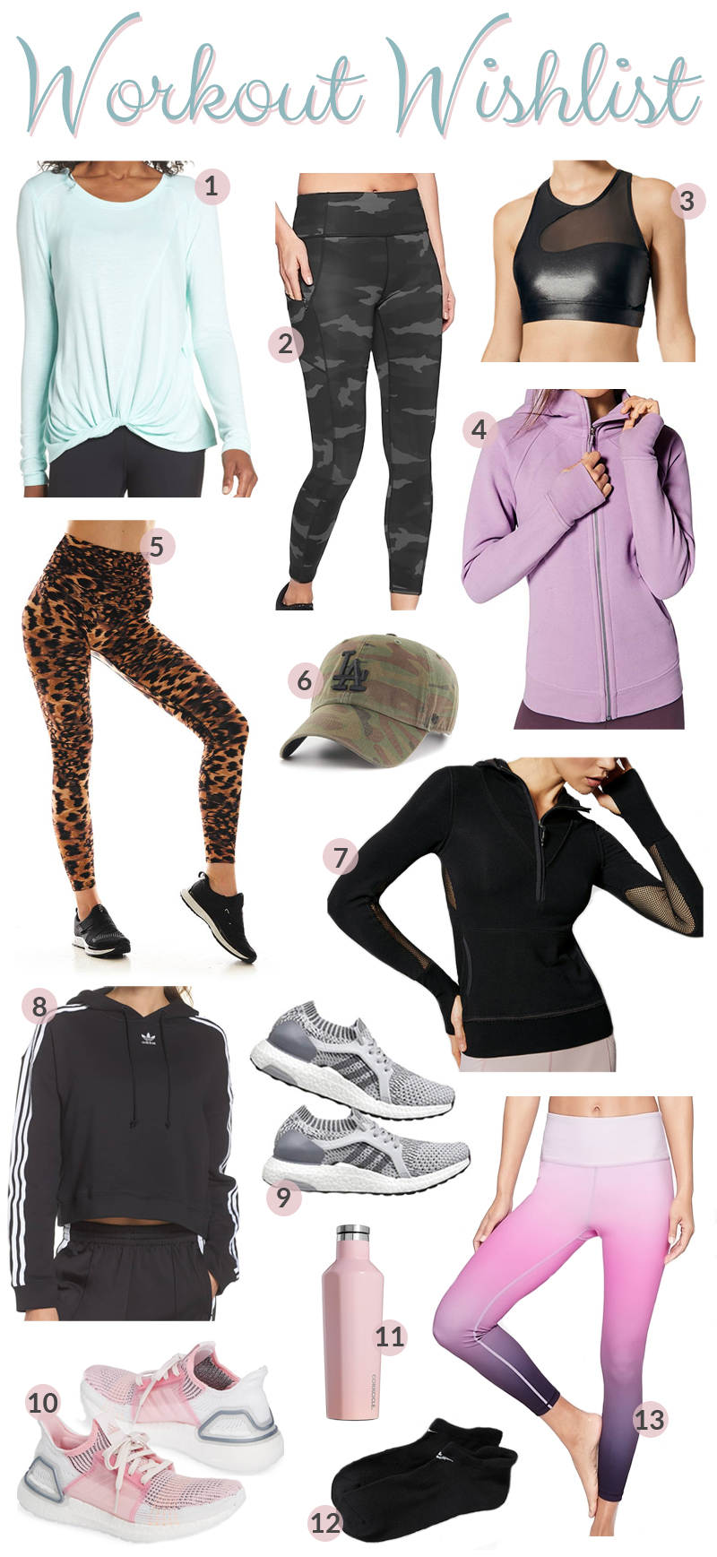 The best workout gear for women featured by top fashion blog, Walking in Memphis in High Heels