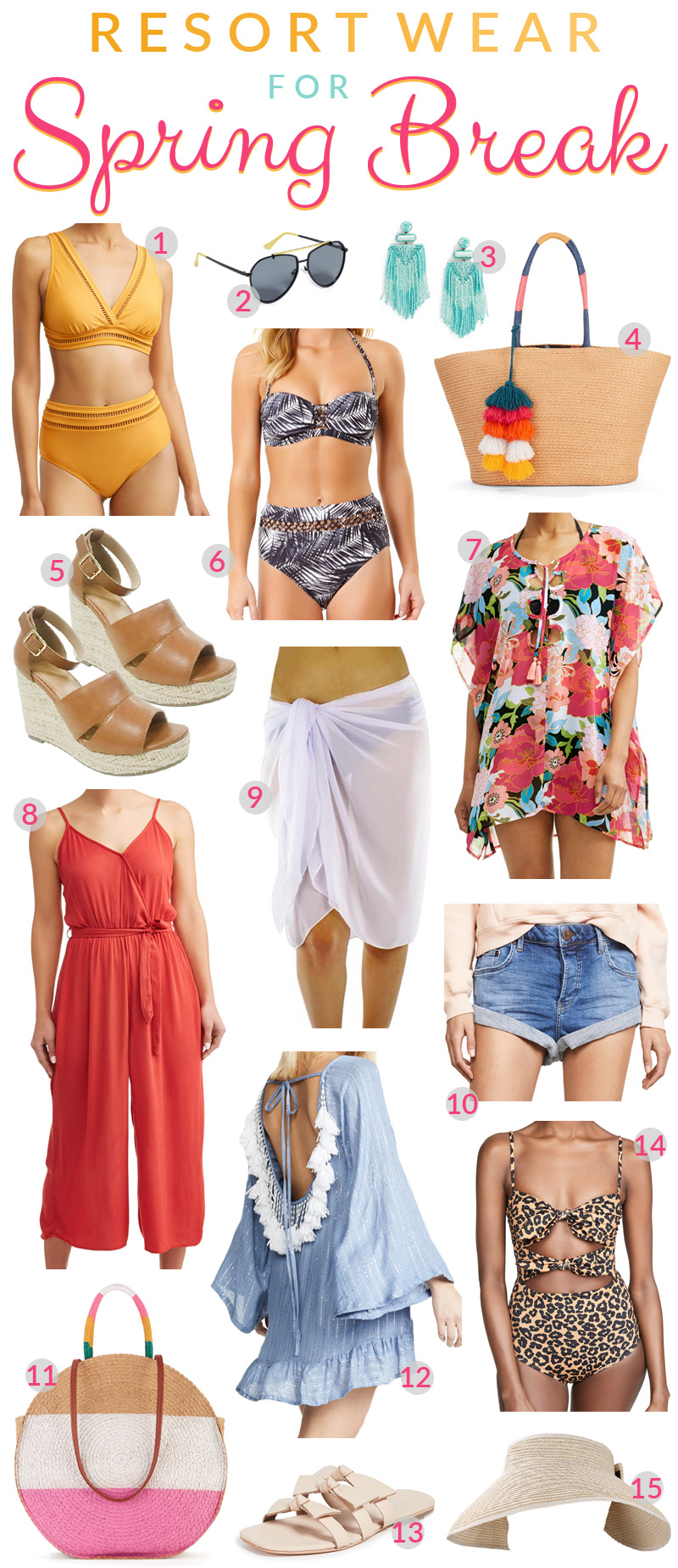 15 Spring Break Essentials to Pack for Your Vacation featured by top US travel blog, Walking in Memphis in High Heels