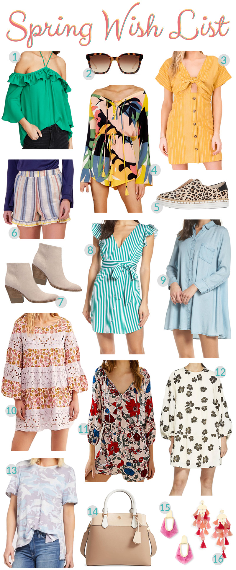 Spring essentials featured by top US fashion blog, Walking in Memphis in High Heels