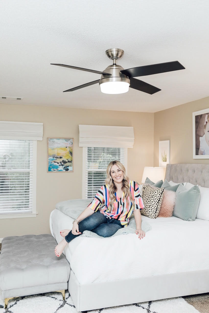 Why choose a high tech fan for your home featured by top US lifestyle blog, Walking in Memphis in High Heels: image of Tunable White LED Dempsey Fan