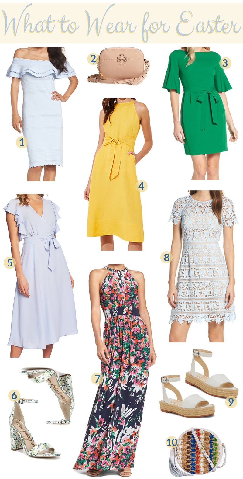 Cute Easter Outfit Ideas featured by top US fashion blog, Walking in Memphis in High Heels