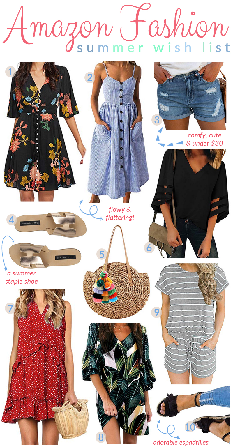 Amazon Favorites: Summer Fashion Wish List