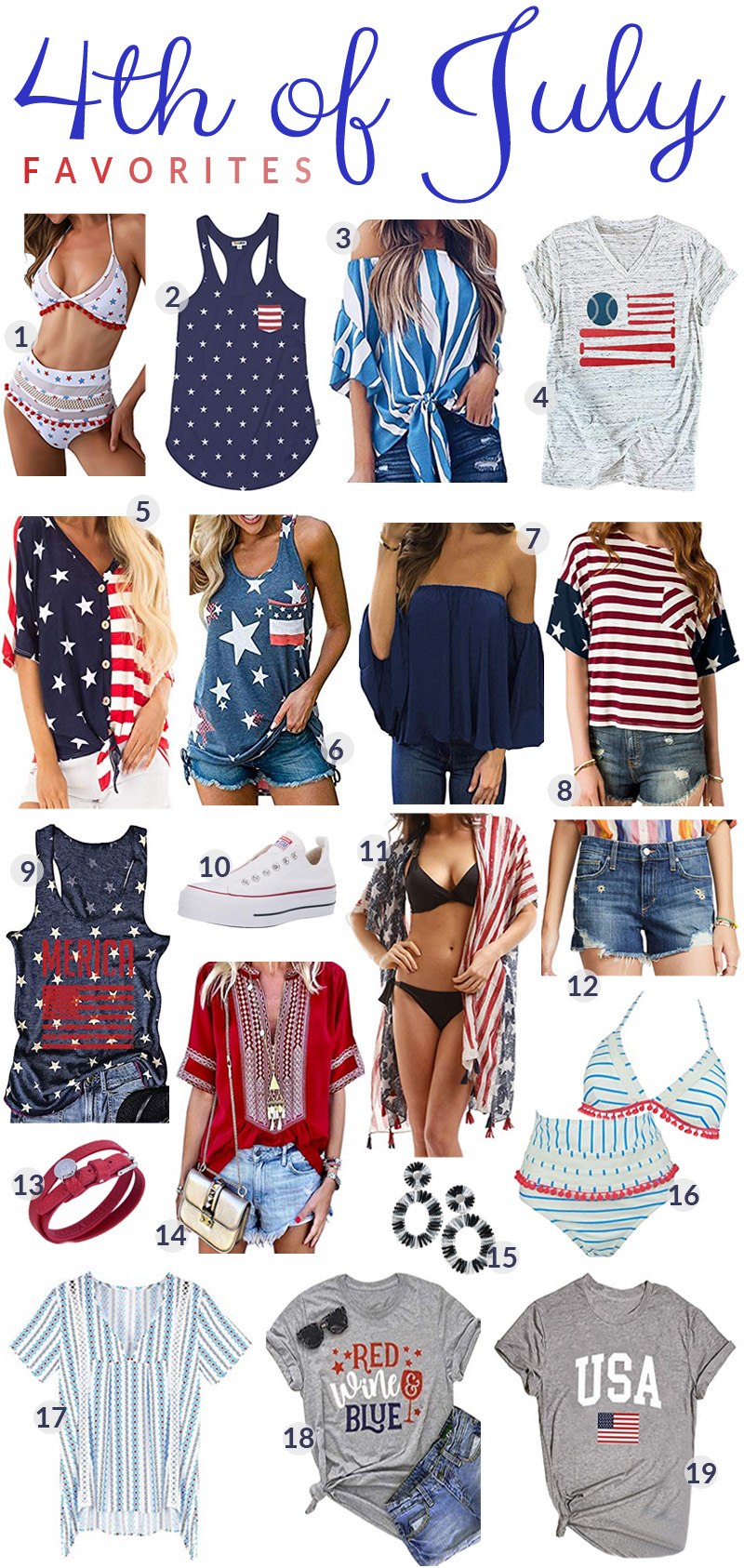 4th of July Outfit Favorites featured by top US fashion blog, Walking in Memphis in High Heels