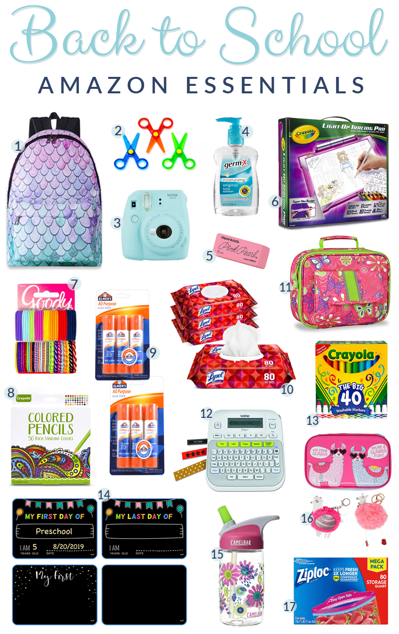 Top 17 Back to School Essentials from Amazon featured by top US life and style blog, Walking in Memphis in High Heels