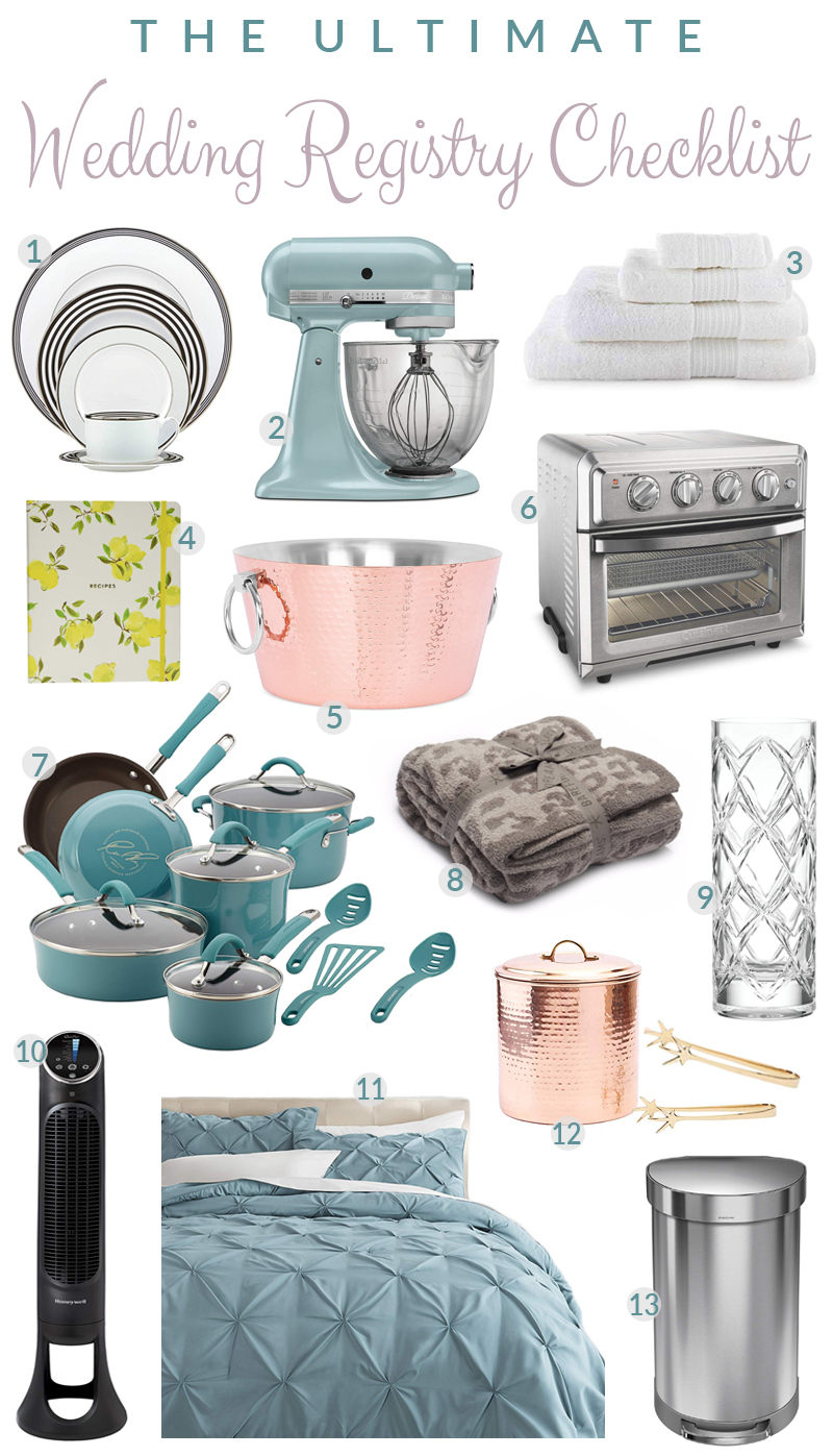The Ultimate Wedding Registry Checklist on Amazon