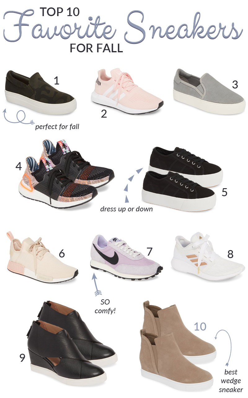 Top 10 Favorite Fall Sneakers
