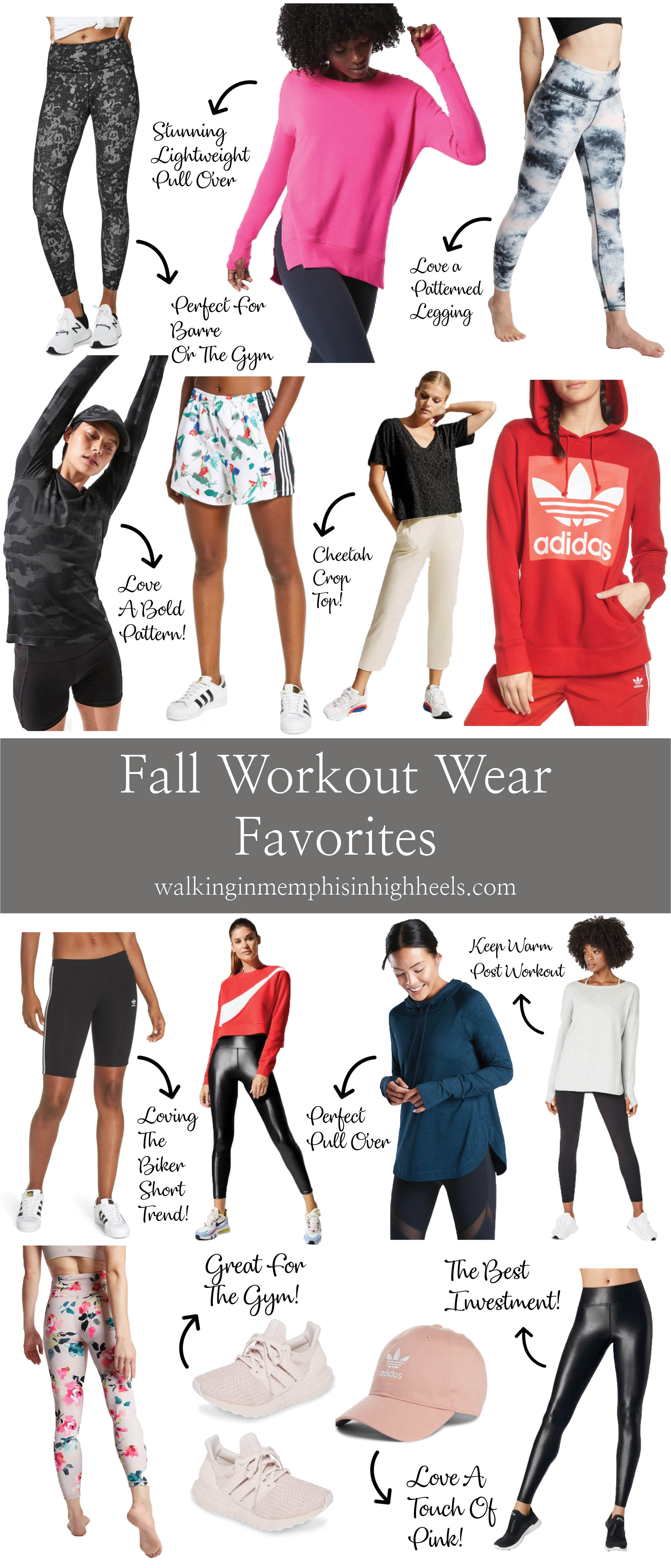 Fall Workout Clothes featured by top US fashion and fitness blog, Walking in Memphis in High Heels